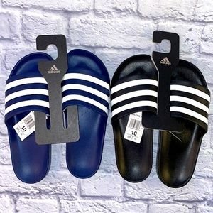 Adidas Bundle of 2 Adilette Aqua Slide Sandals